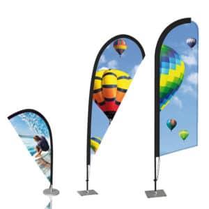 desk flying banner